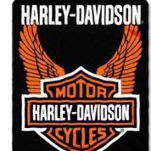 "Licensed Harley Davidson Fleece Throw 50"" x 60"""